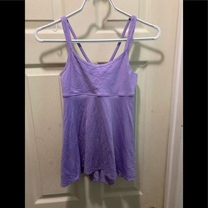 Ivivva youth size 12 active tank top built in bra